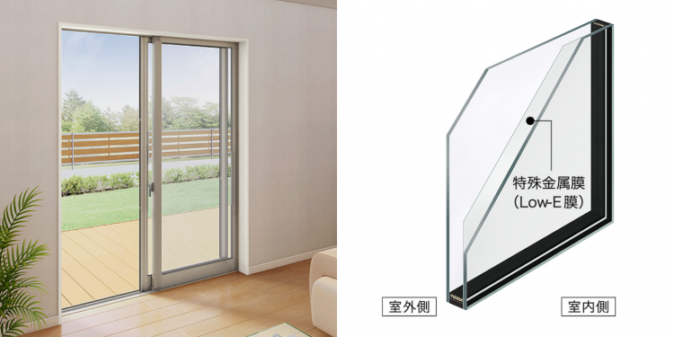 江戸川区で自然素材の注文住宅を建てるニットー住宅 LOW-Eガラス