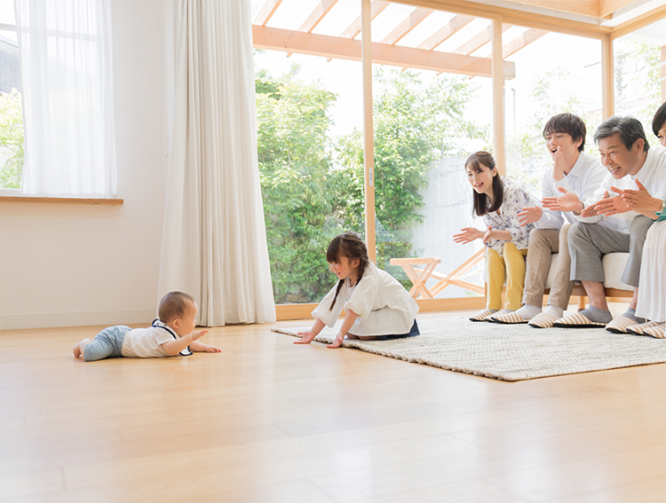 江戸川区で自然素材の注文住宅を建てるニットー住宅 赤ちゃんも安心して床でハイハイできる
