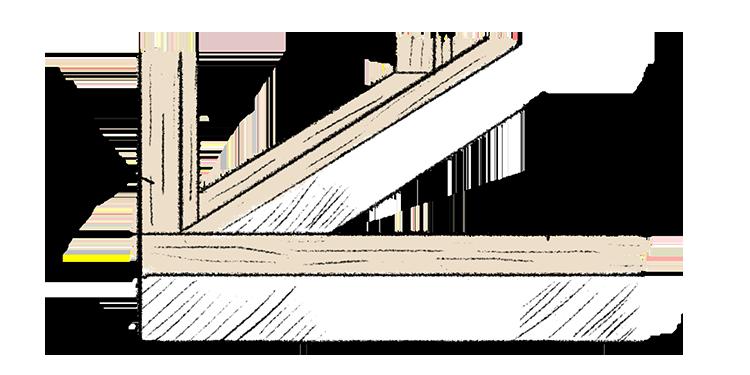 江戸川区で自然素材の注文住宅を建てるニットー住宅 土台・構造材