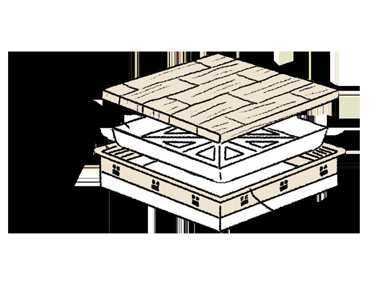 江戸川区で自然素材の注文住宅を建てるニットー住宅 点検孔も断熱材とシールパッキンでカバー