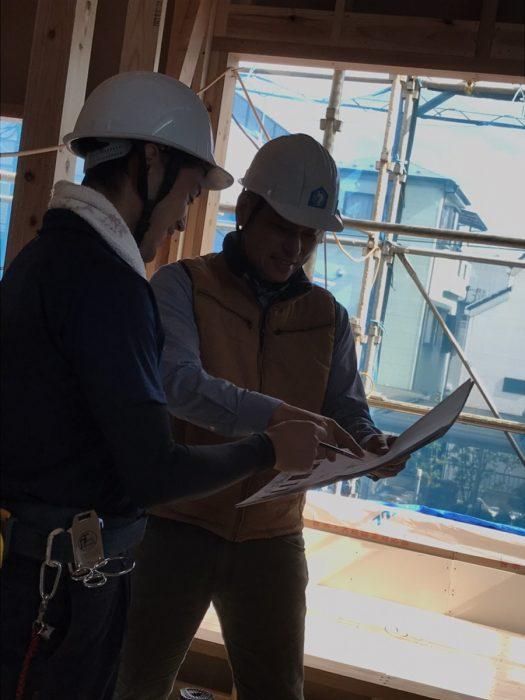 江戸川区で注文住宅を建てるニットー住宅の現場の様子