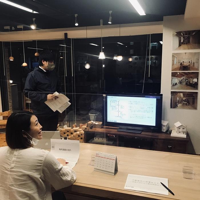 江戸川区で注文住宅を建てる株式会社ニットー住宅での勉強会の風景。