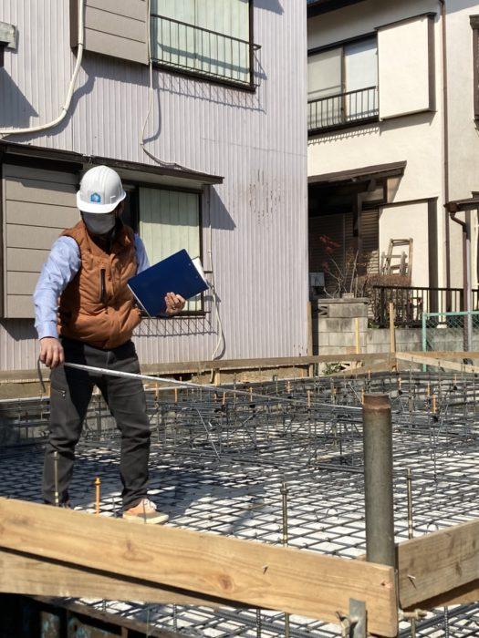 江戸川区で注文住宅を建てるニットー住宅の基礎配筋写真