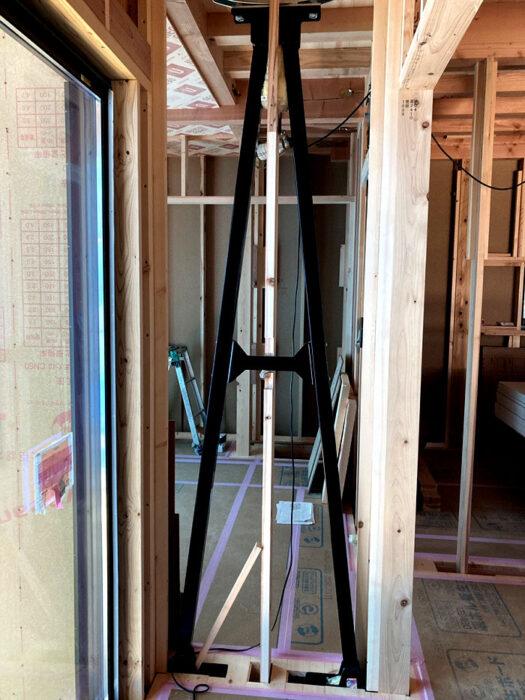 江戸川区で注文住宅を建てる工務店ニットー住宅の建てる家に入っている制振装置