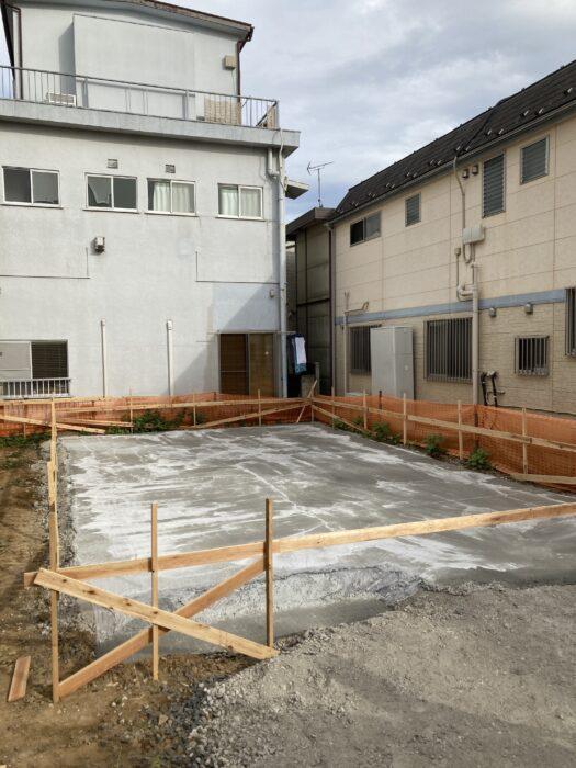 江戸川区で注文住宅を建てるニットー住宅の基礎工事