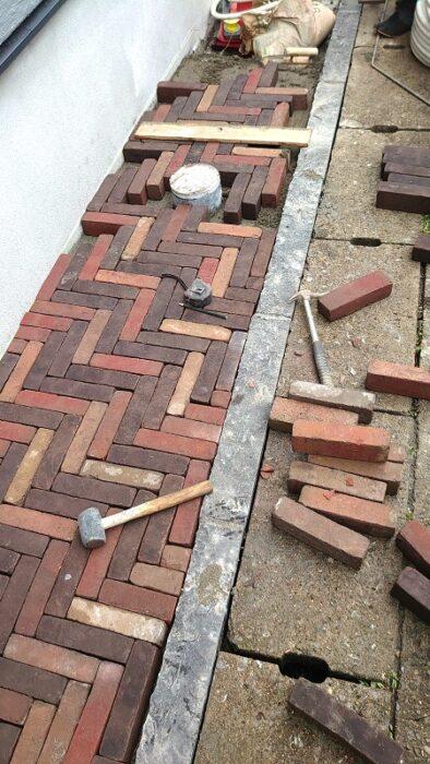 江戸川区で自然素材をふんだんに使用したこだわりの注文住宅をつくるニットー住宅 ちょっと細いレンガ
